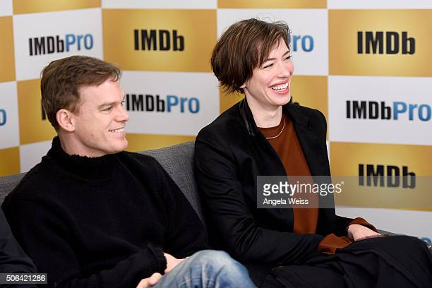 Actors Michael C Hall and Rebecca Hall in The IMDb Studio In Park City Utah Day Two on January 23 2016 in Park City Utah