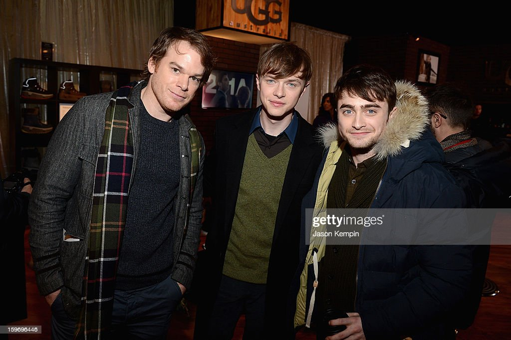 Actors Michael C. Hall, Dane Dehaan, and Michael C. Hall attend Day 1 of UGG at Village At The Lift 2013 on January 18, 2013 in Park City, Utah.
