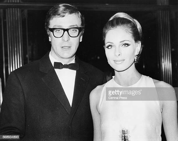 Actors Michael Caine and Camilla Sparv at the premiere of the film 'Murderer's Row' in Leicester Square London January 20th 1967