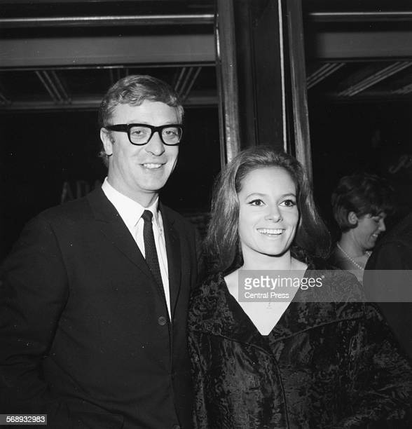 Actors Michael Caine and Luciana Paluzzi at the premiere of the film 'Repulsion' by Roman Polanski, London, June 11th 1965.