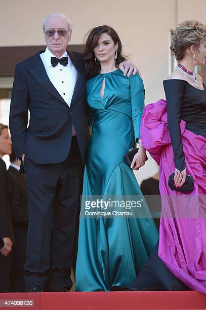 Actors Michael Caine and Rachel Weisz attend the Youth Premiere during the 68th annual Cannes Film Festival on May 20 2015 in Cannes France