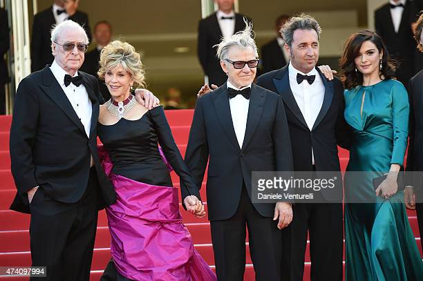 Actors Michael Caine Jane Fonda Harvey Keitel director Paolo Sorrentino and actor Rachel Weisz attend the 'Youth' Premiere during the 68th annual...