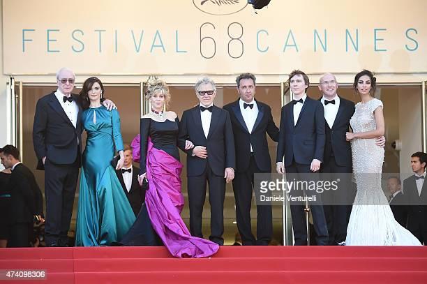 Actors Michael Caine Rachel Weisz Jane Fonda and Harvey Keitel director Paolo Sorrentino guest and actors Paul Dano Alex Macqueen and Madalina Ghenea...