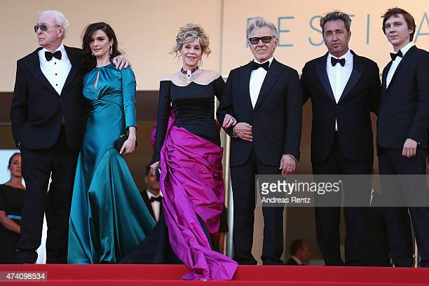Actors Michael Caine Rachel Weisz Jane Fonda and Harvey Keitel director Paolo Sorrentino and actor Paul Dano attend the Youth Premiere during the...