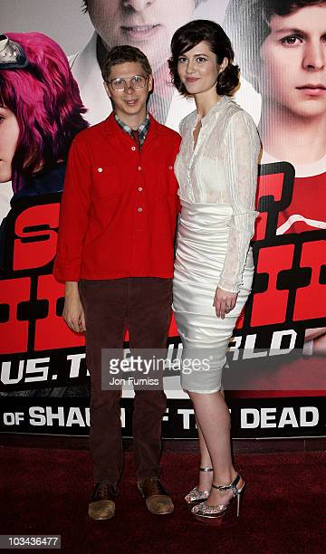 Actors Michael Cera and Mary Elizabeth Winstead attend the European premiere of 'Scott Pilgrim vs The World' at Empire Leicester Square on August 18...