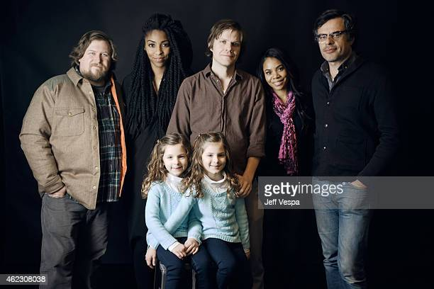 Actors Michael Chernus Jessica Williams director/writer James C Strouse actors Regina Hall Jemaine Clement Gia Gadsby and Aundrea Gadsby pose for a...