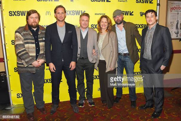 Actors Michael Chernus Josh Lucas director Tommy O'Hara actors Melissa Leo Rory Cochrane and Alex Frost attend the 'The Most Hated Woman In America'...