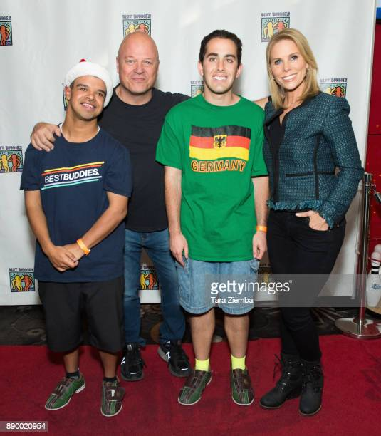 Actors Michael Chiklis and Cheryl Hines attend Bowling For Buddies at PINZ Bowling Entertainment Center on December 10 2017 in Studio City California