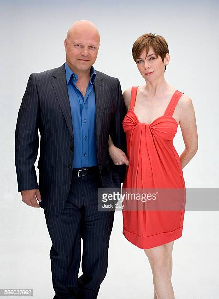 Actors Michael Chiklis and Julianne Nicholson are photographed Boston Common Magazine in 2007 in Los Angeles California