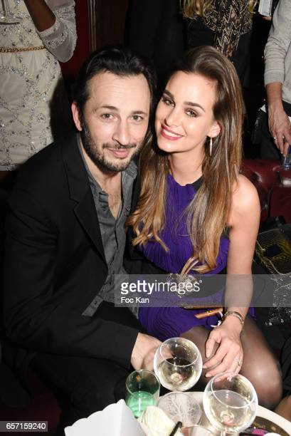 Actors Michael Cohen and Elisa Bachir Bey attend Pink Paradise Club 15th Anniversary on March 23 2017 in Paris France