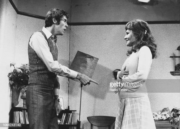 Actors Michael Crawford and Michele Dotrice in a scene from the television sitcom 'Some Mothers Do 'Ave 'Em' October 1st 1973