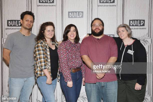 Actors Michael Cruz Kayne Chelsea Clarke Abra Tabak Zach Cherry and Shannon O'Neill members of the Upright Citizens Brigade Theatre visit Build to...