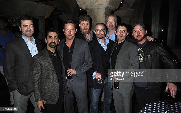 Actors Michael Cudlitz James MadioRoss McCall Neal McDonough Frank John Hughes Rick Gomez and Scott Grimes arrive at HBO's premiere of The Pacific...
