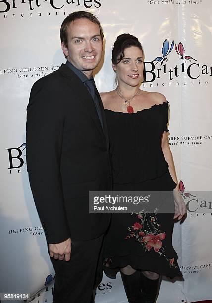 Actors Michael Dean Shelton & Danielle Petty arrive at the Britticares International Foundation's Golden Globe Awards Post Celebration at The Green...