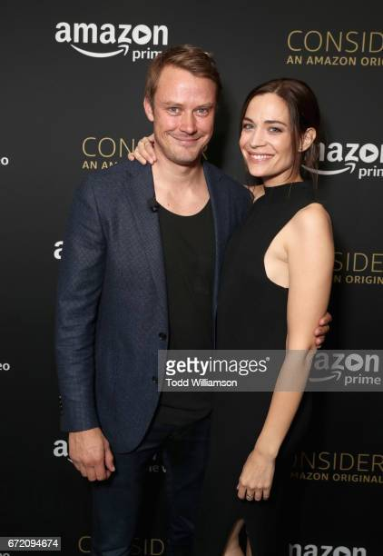 Actors Michael Dorman and Kathleen Munroe attend Amazon Original Series Patriot Emmy FYC Screening and Panel on April 23 2017 at Hollywood Athletic...