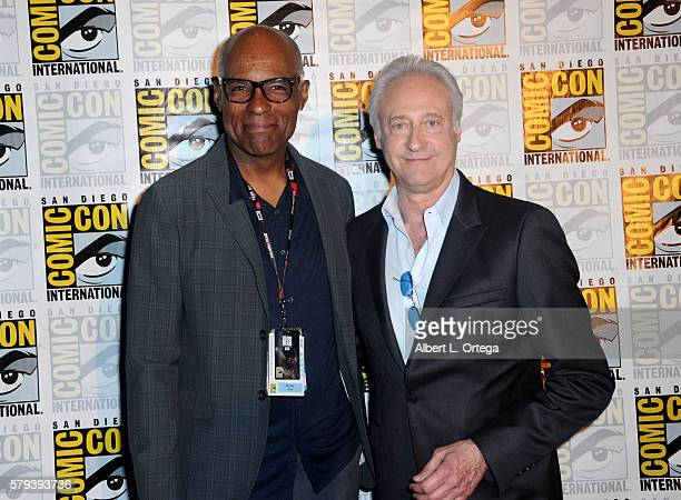 Actors Michael Dorn and Brent Spiner attend the 'Star Trek' panel during ComicCon International 2016 at San Diego Convention Center on July 23 2016...