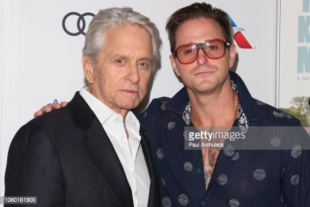 "Actors Michael Douglas and Cameron Douglas attend the 2018 AFI FEST world premiere screening of ""The Kominsky Method"" at TCL Chinese Theatre on..."