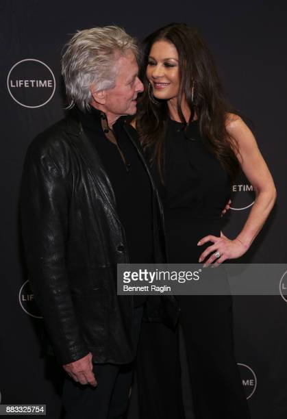 Actors Michael Douglas and Catherine ZetaJones attend the Lifetime Luminaries screening of Cocaine Godmother The Griselda Blanco Story at NeueHouse...
