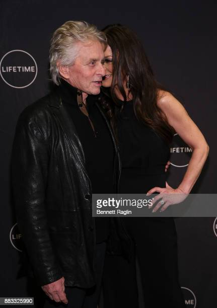 Actors Michael Douglas and Catherine ZetaJones attend the Lifetime Luminaries screening of 'Cocaine Godmother The Griselda Blanco Story' at NeueHouse...