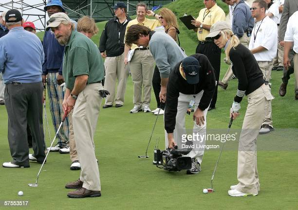 Actors Michael Douglas and Heather Locklear attend the 8th annual Michael Douglas & Friends Golf Tournament presented by Lexus at the Trump National...