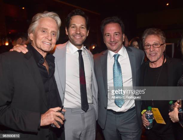 Actors Michael Douglas Paul Rudd Executive producer Louis D'Esposito and Frankie Valli attend the Los Angeles Global Premiere for Marvel Studios'...