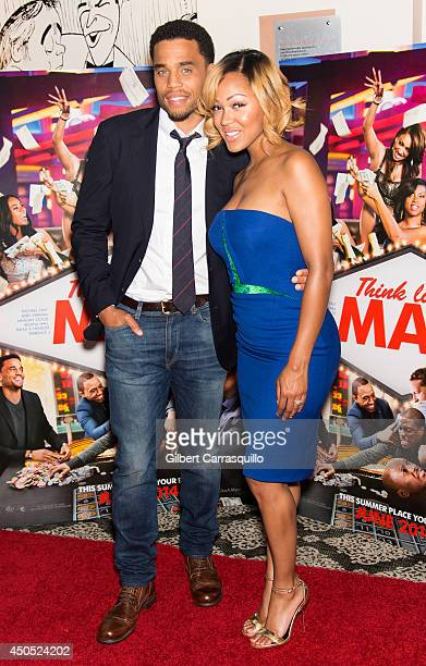 Actors Michael Ealy and Meagan Good attend the 'Think Like A Man Too' screening at the Prince Music Theater on June 12 2014 in Philadelphia...