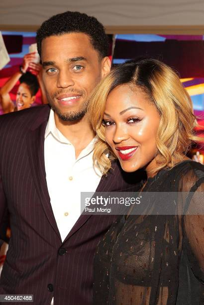Actors Michael Ealy and Meagan Good pose for a photo at the red carpet screening of the new movie ÒThink Like a Man TooÓ at the AMC Mazza Gallerie on...