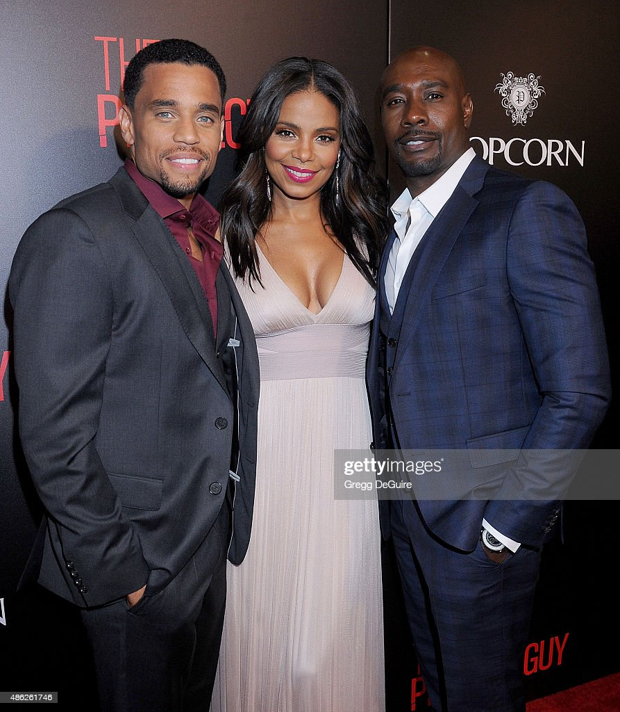 Actors Michael Ealy, Sanaa Lathan and Morris Chestnut arrive at the premiere of Screen Gems' 'The Perfect Guy' at The WGA Theater on September 2, 2015 in Beverly Hills, California.