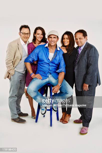 Actors Michael Emerson, Amy Acker, Jim Caviezel, Sarah Shahi and Kevin Chapman are photographed for TV Guide Magazine on July 20, 2013 on the TV...