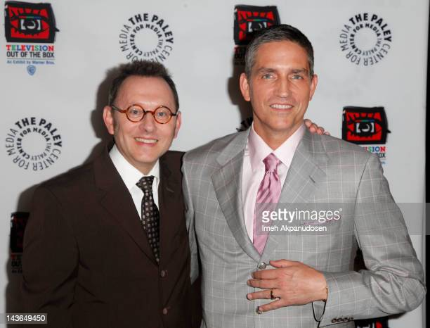 Actors Michael Emerson and Jim Caviezel attend An Evening With CBS' 'Person Of Interest' at The Paley Center for Media on May 1 2012 in Beverly Hills...