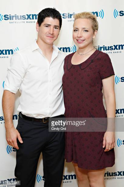 Actors Michael Fishman and Alicia Goranson visits the SiriusXM Studios on August 15 2013 in New York City