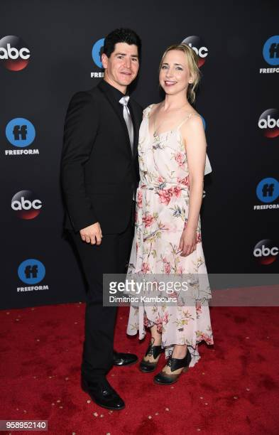 Actors Michael Fishman and Lecy Goranson attend during 2018 Disney ABC Freeform Upfront at Tavern On The Green on May 15 2018 in New York City