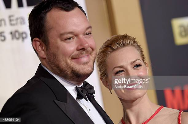 Actors Michael Gladis and Beth Behrs attend the 'Mad Men' Black & Red Ball at Dorothy Chandler Pavilion on March 25, 2015 in Los Angeles, California.