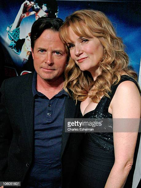 Actors Michael J Fox and Lea Thompson attend the Back To The Future 25th anniversary Trilogy BluRay release celebration at Gustavino's on October 25...