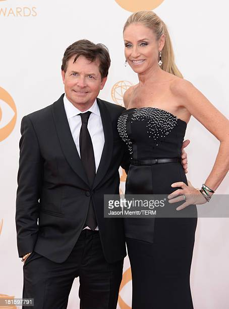 Actors Michael J Fox and Tracy Pollan arrive at the 65th Annual Primetime Emmy Awards held at Nokia Theatre LA Live on September 22 2013 in Los...