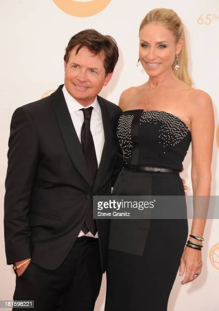 Actors Michael J. Fox and Tracy Pollan arrive at the 65th Annual Primetime Emmy Awards held at Nokia Theatre L.A. Live on September 22, 2013 in Los...