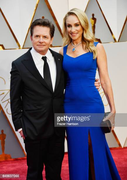 Actors Michael J Fox and Tracy Pollan attend the 89th Annual Academy Awards at Hollywood Highland Center on February 26 2017 in Hollywood California