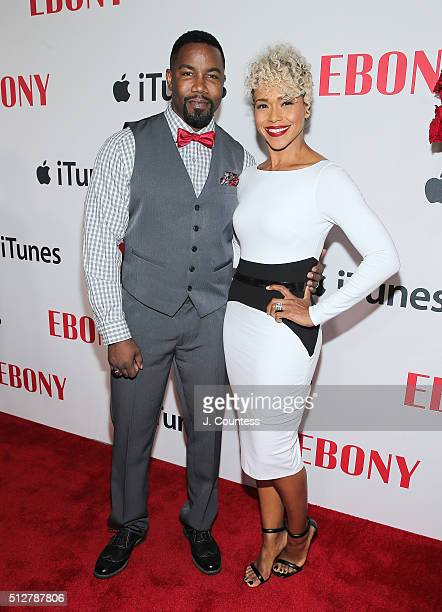 Actors Michael Jai White and Gillian White attend the Ebony Magazine And Apple Celebrate Black Hollywood party at NeueHouse Hollywood on February 27...
