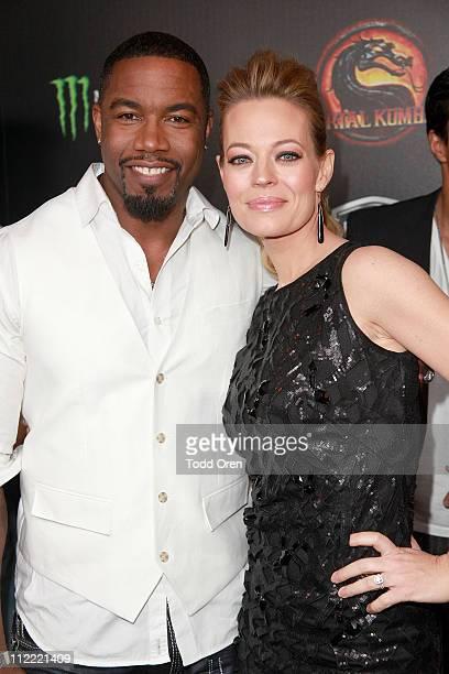 "Actors Michael Jai White and Jeri Ryan attend the ""Mortal Kombat Legacy"" digital series premiere celebration at Saint Felix II on April 14, 2011 in..."