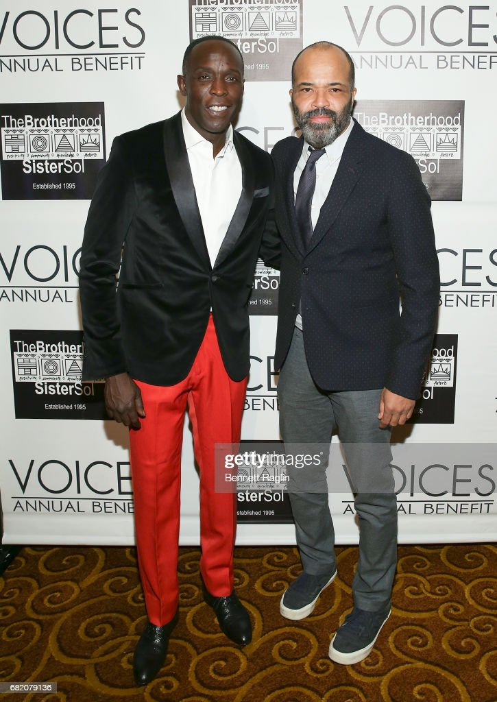 Actors Michael K. Williams and Jeffrey Wright attend the Brotherhood/Sister Sol 2017 Gala at Gotham Hall on May 11, 2017 in New York City.