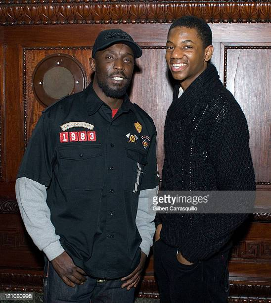 Actors Michael K Williams and Jermaine Crawford attend The Screening of the SeasonFinale of the HBO Original Series The Wire Hosted by Philadelphia...