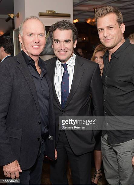 Actors Michael Keaton Brian d'Arcy James and Gabriel Macht attend the Spotlight TIFF party hosted by GREY GOOSE Vodka and Soho Toronto at Soho House...