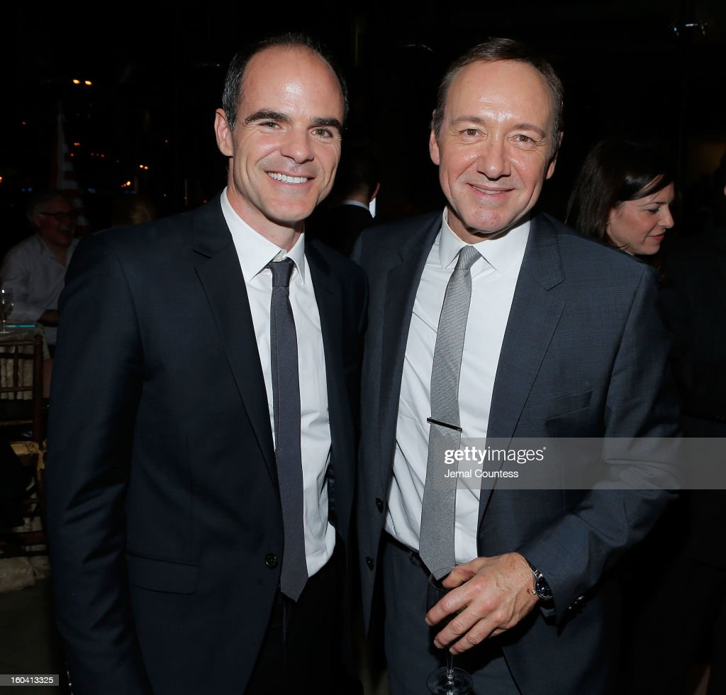 Actors Michael Kelly and Kevin Spacey attend Netflix's 'House Of Cards' New York Premiere After Party at Alice Tully Hall on January 30, 2013 in New York City.