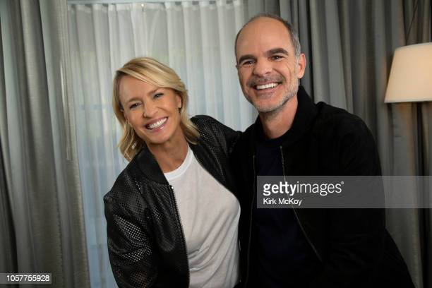 Actors Michael Kelly and Robin Wright are photographed for Los Angeles Times on October 22 2018 in Beverly Hills City PUBLISHED IMAGE CREDIT MUST...