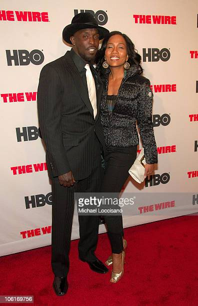 Actors Michael Kenneth Williams and Sonja Sohn arrive to HBO's New York premiere of The Wire at Chelsea West Cinema in New York City on January 4 2008