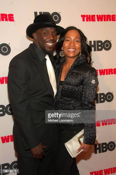 Actors Michael Kenneth Williams and Sonja Sohn arrive to HBO's New York premiere of 'The Wire' at Chelsea West Cinema in New York City on January 4...