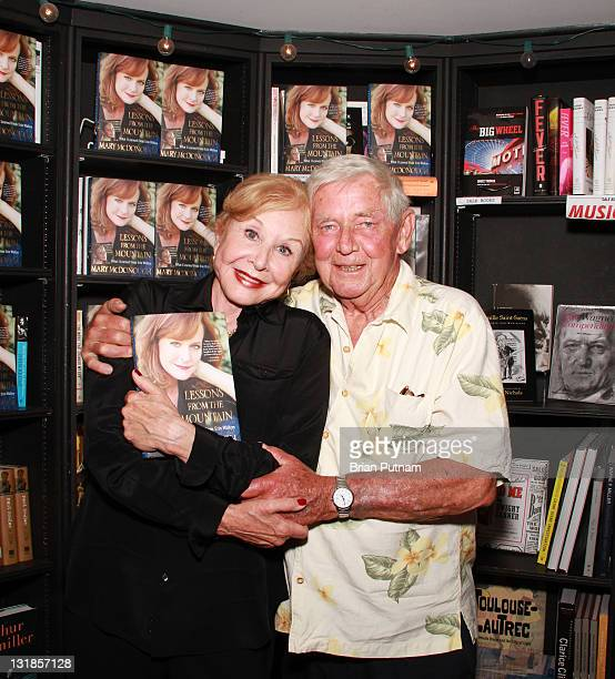 Actors Michael Learned and Ralph Waite attend the signing of Mary McDonough's book 'Lessons From the Mountain What I Learned From Erin Walton' at...