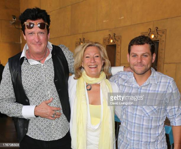Actors Michael Madsen Jayne Atkinson and Jason James Richter attend the Free Willy 20th Anniversary Celebration at the Egyptian Theatre on August 17...