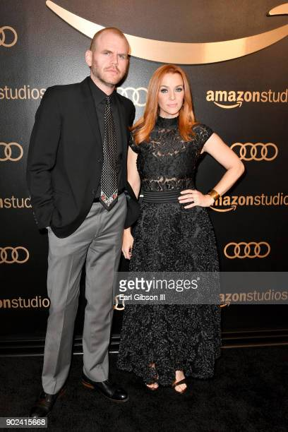 Actors Michael Maize and Annie Wersching attends Amazon Studios' Golden Globes Celebration at The Beverly Hilton Hotel on January 7 2018 in Beverly...