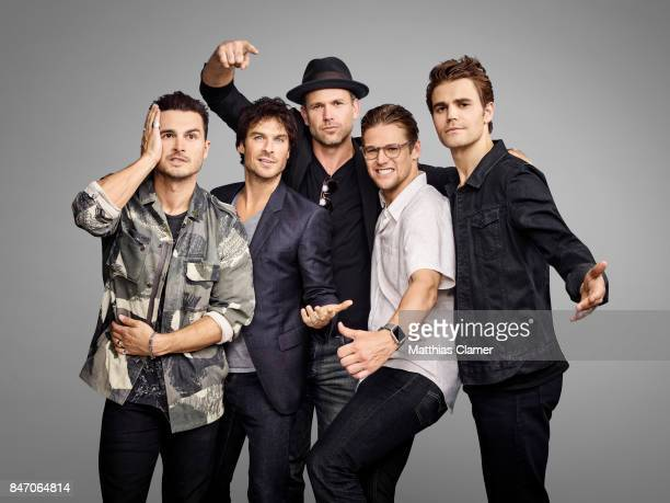 Actors Michael Malarkey Ian Somerhalder Matt Davis Zach Roerig and Paul Wesley from 'The Vampire Diaries' are photographed for Entertainment Weekly...